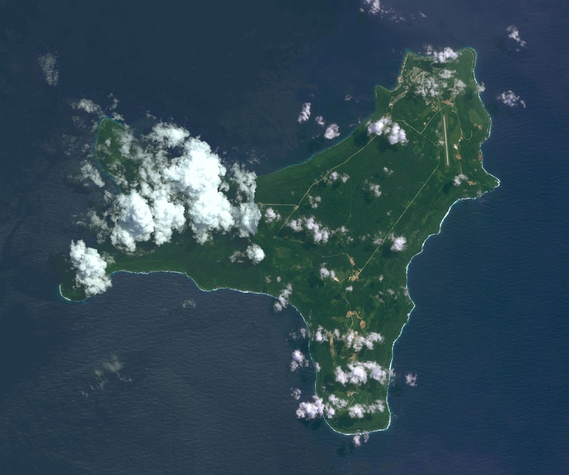 DigitalGlobe overview image Christmas Island, Australia.  Christmas Island is a small island in the Indian Ocean, located 2600km north-west of Perth, Western Australia. (Getty Images)