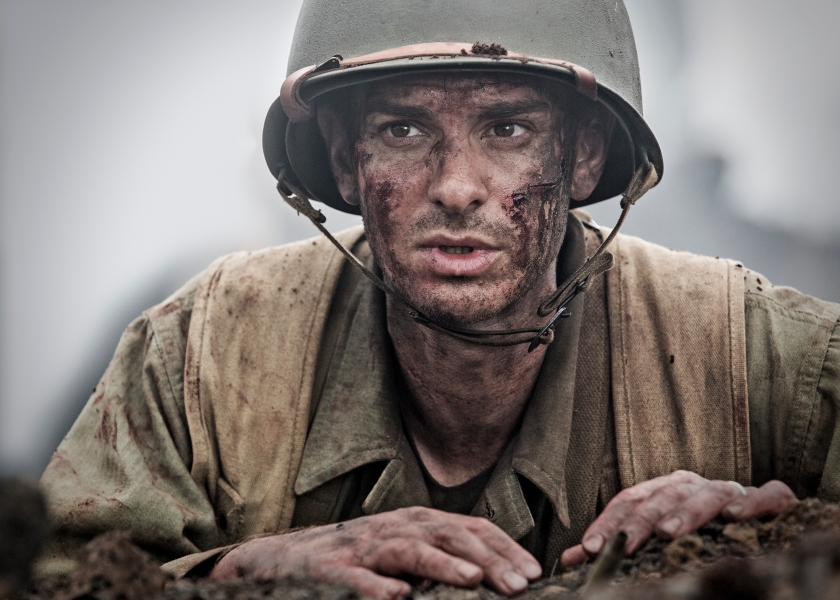Andrew Garfield, starring as Desmond Doss, in 'Hacksaw Ridge' (Mark Rogers)