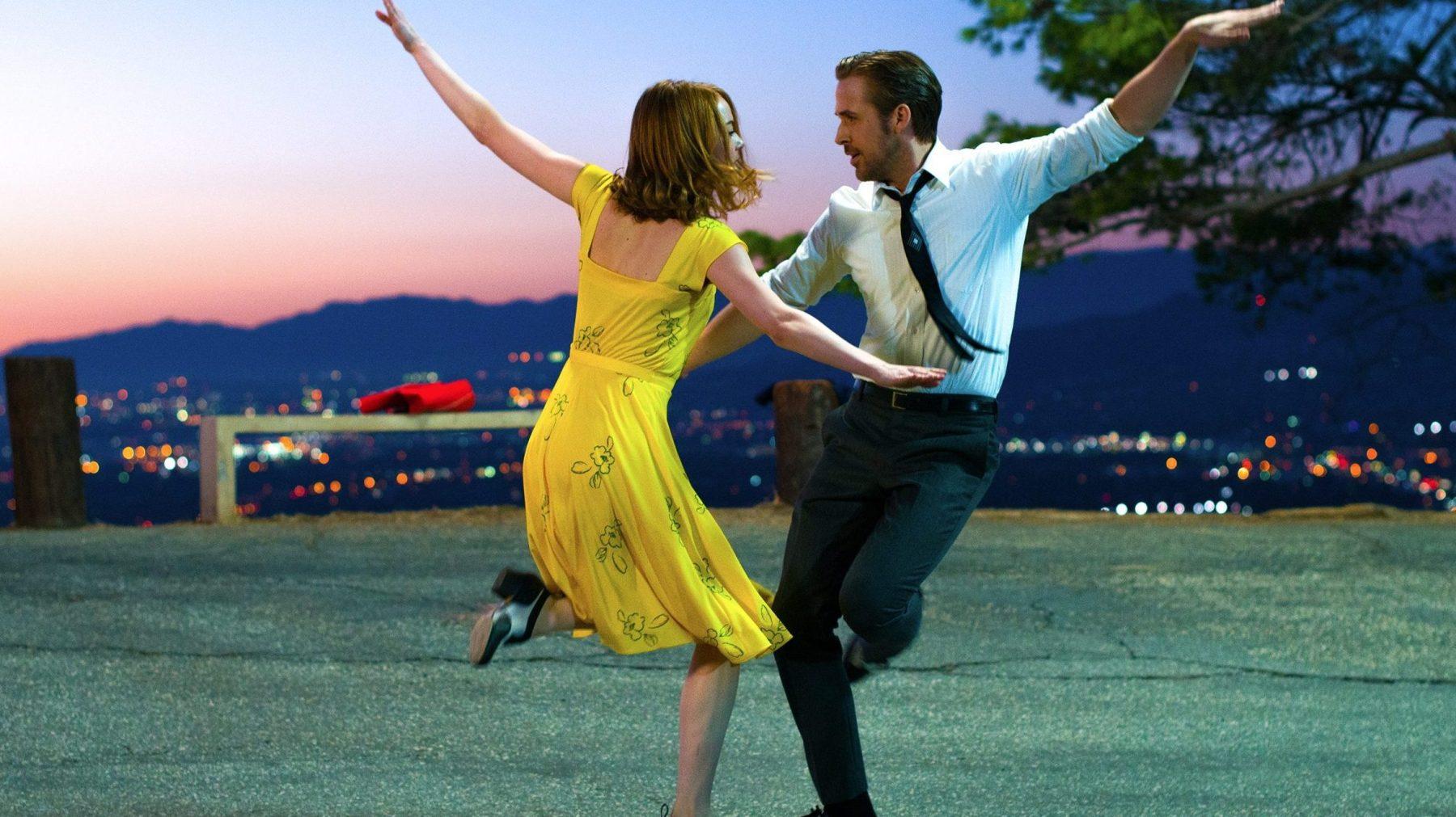 Mia (Emma Stone) and Sebastian (Ryan Gosling) in La La Land. (Dale Robinette)