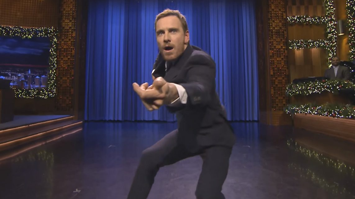 Jimmy Fallon and Michael Fassbender Face Off in 'Tonight Show' Air Guitar Battle