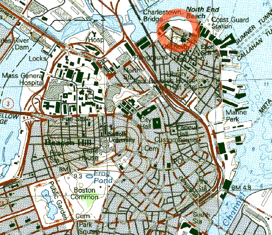 Map indicating the area affected by the flood (Wikimedia Commons)