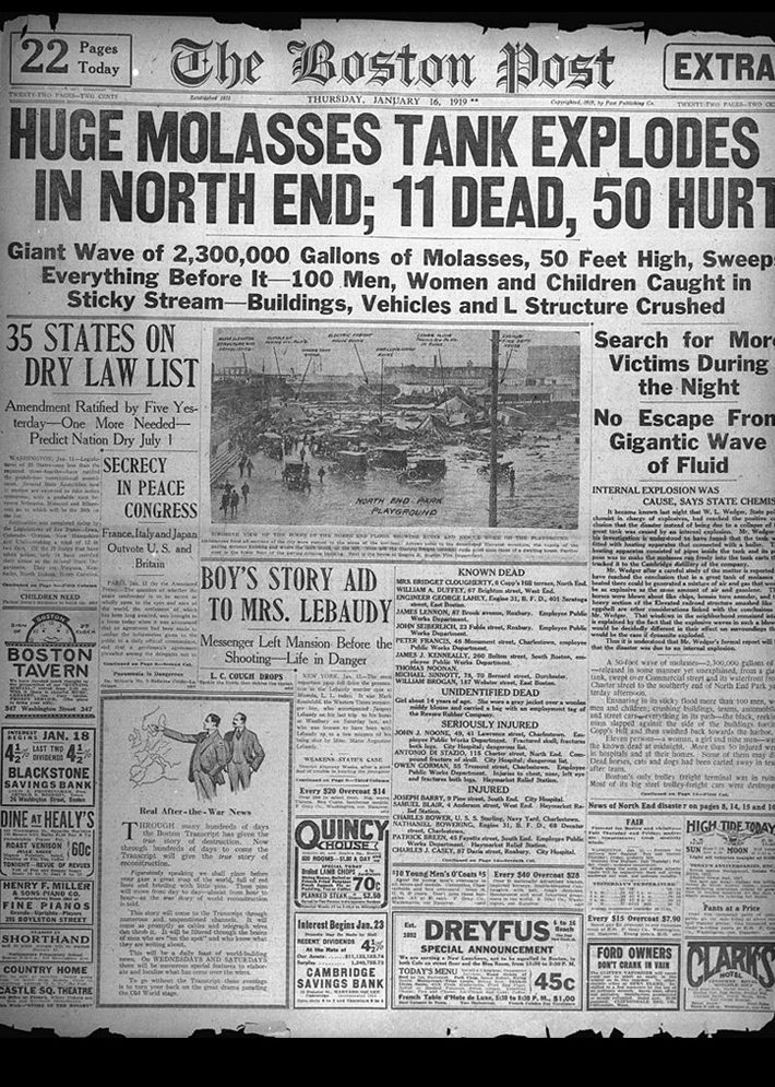 Newspaper coverage of the flood (Wikimedia Commons)