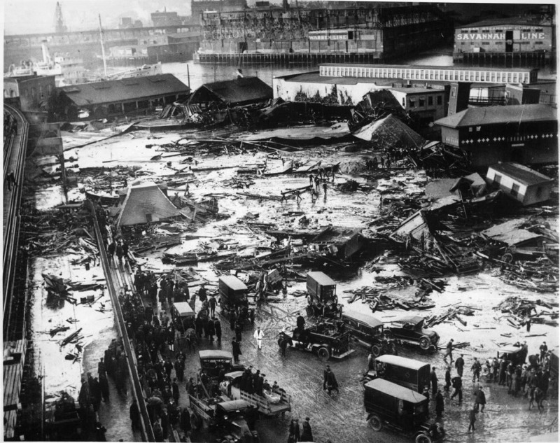 Photograph of damage caused by flood (Boston Public Library/Wikimedia Commons)