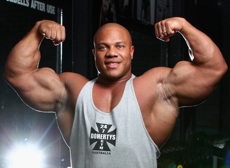 Phil Heath during a media call ahead of the 2012 IFBB Australian Pro Grand Prix XIII (Robert Cianflone/Getty Images)