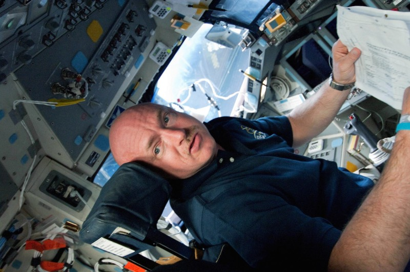 IN SPACE - MAY 16: In this handout provided by National Aeronautics and Space Administration (NASA), Astronaut Mark Kelly, STS-134 commander, gets to work soon after Endeavour reaches Earth orbit as he sits at the commander's station on the shuttle's forward flight deck as he and five other veteran crew members head to the International Space Station May 16, 2011 in space. After 20 years, 25 missions and more than 115 million miles in space, NASA space shuttle Endeavour is on its final flight to the International Space Station before being retired and donated to the California Science Center in Los Angeles. Capt. Mark E. Kelly, U.S. Rep. Gabrielle Giffords' (D-AZ) husband, will lead mission STS-134 as it delivers the Express Logistics Carrier-3 (ELC-3) and the Alpha Magnetic Spectrometer (AMS-2) to the International Space Station. (Photo by NASA via Getty Images)