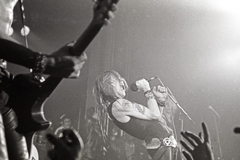 NEW YORK - OCTOBER 27: Axl Rose of Guns 'n' Roses performs in concert at the Ritz on February 2, 1988 in New York City. (Photo by Larry Busacca/WireImage)