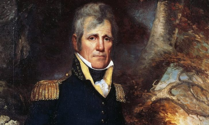 Portrait of Andrew Jackson in general's uniform (Waxhaw, 1767-Nashville, 1845), American politician, seventh President of the United States of America. Painting by Wesley.