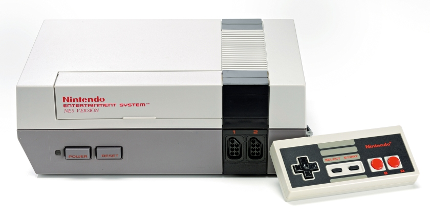 A Nintendo Entertainment System video game console and controller photographed on a white background, taken on March 26, 2009. (Neil Godwin/GamesMaster Magazine via Getty Images)