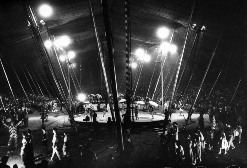Ringling Bros. circus performers showcasing under the big top. (Jerry Cooke/The LIFE Images Collection/Getty Images)