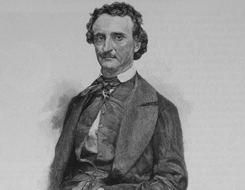 Clipping of an engraving based on daguerreotype of American writer and poet Edgar Allan Poe (Time Life Pictures/Mansell/The LIFE Picture Collection/Getty Images)