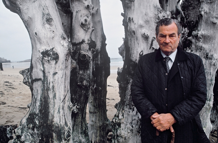 Patrick Leigh Fermor poses while at the Saint Malo Book Fair in Saint Malo,France inMay 1992. (Ulf Andersen/Getty Images)
