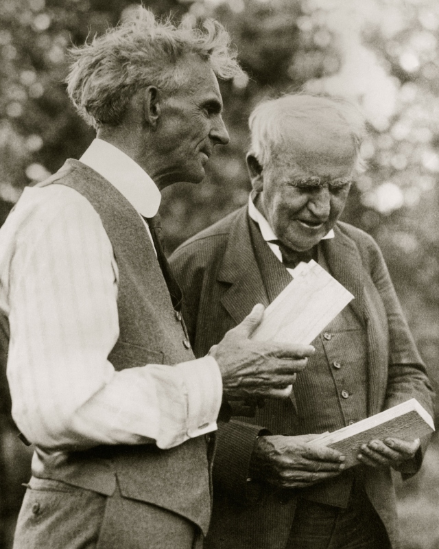 Henry Ford, (1863-1947), Thomas Edison, (1847-1931), American inventors, additional permission required for use.for information contact Superstock., Edison, inventors, Thomas alva Edison, Thomas, Henry, Ford, famous people, Henry Ford, Thomas Edison, indus