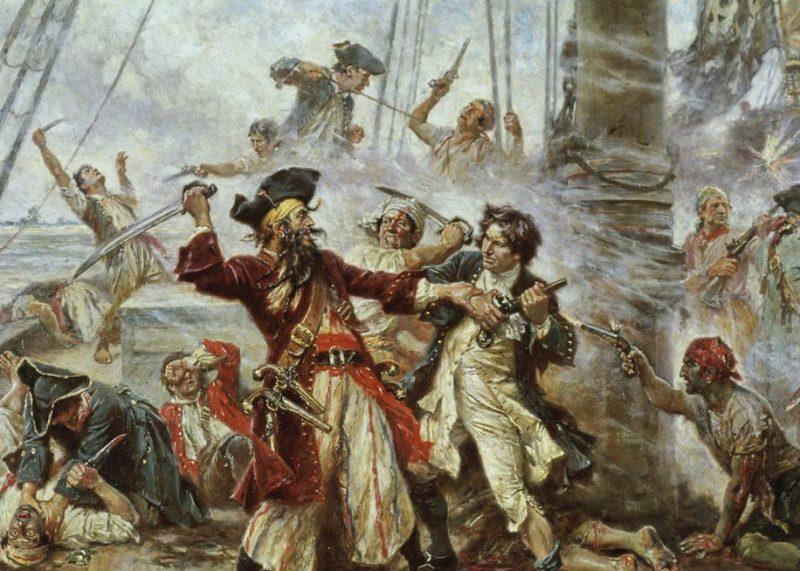 Capture of the Pirate Blackbeard by Jean Leon Gerome Ferris