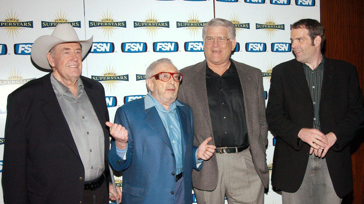Doyle Brunson, Henry Orenstein, T.J. Cloutier and Howard Lederer (Photo by Stephen Lovekin/FilmMagic)