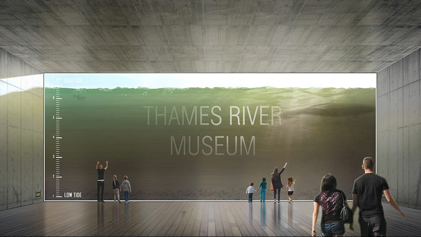 Architect Designs Tide-Viewing Window for Proposed Thames River