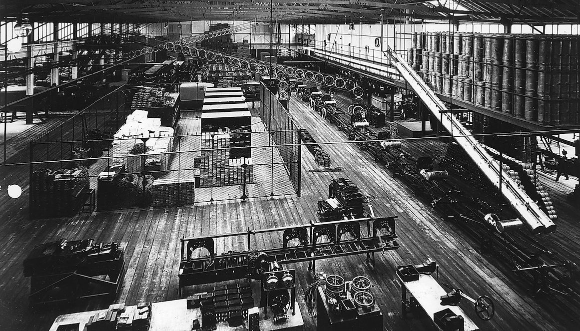 Part Of The Production Line At Fordu0027s Highland Park Factory, Detroit,  Michigan, USA