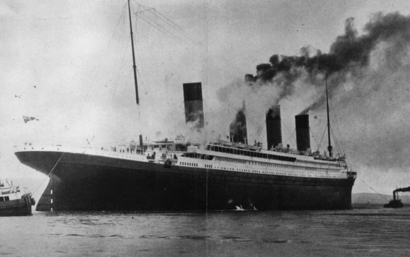 The ?1,500,000 luxury White Star liner 'Titanic', which sank on its maiden voyage to America in 1912, seen here on trials in Belfast Lough.