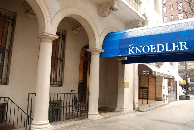 The exterior of Knoedler art gallery (Paul Goguen/Bloomberg)