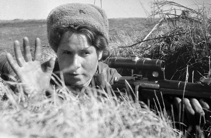 The Red Army Soviet sniper in 1942. (Ozerksy/AFP/Getty Images)