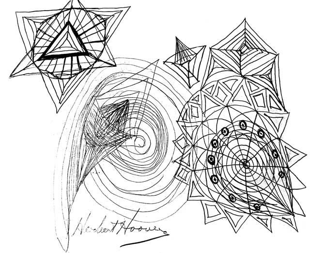 Hoover's doodles (No Credit)