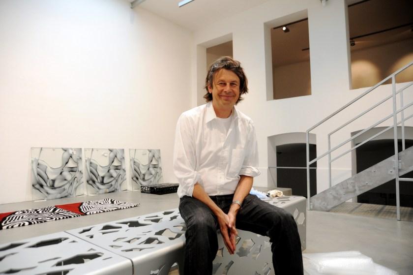 Austrian artist Peter Kogler in his Vienna studio in 2010. (Didi Sattmann/Imagno/Getty Images)