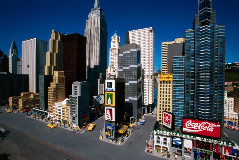Miniature Manhattan skyline made from Legos (Dave G. Houser)