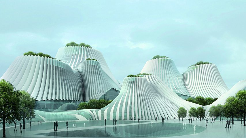 Taichung Convention Center, 2009, Taichung, Taiwan, China. (MAD Architects /Published by Phaidon)