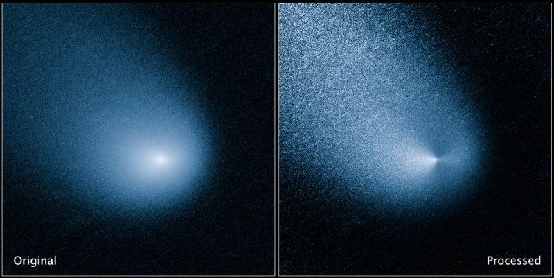 The comet Siding Spring (NASA/Hubble Space Telescope)