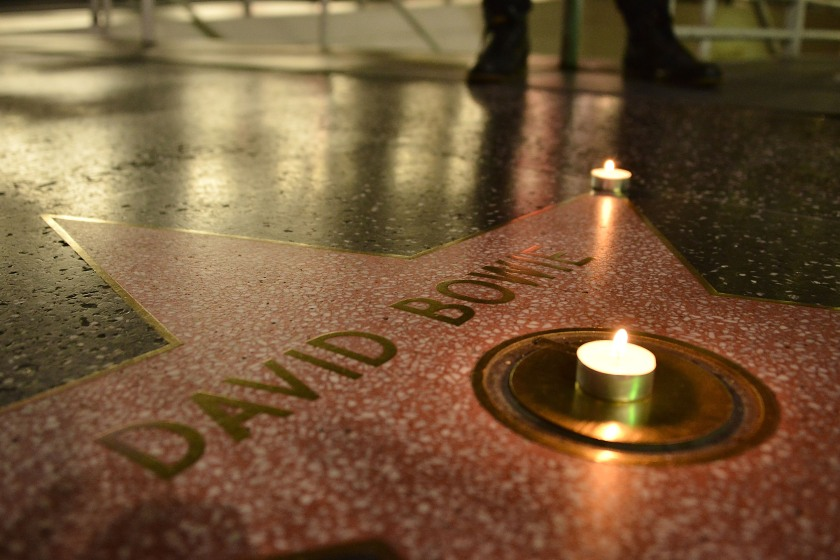 David Bowie remembered on The Hollywood Walk of Fame on January 10, 2016 in Hollywood, California. (Araya Diaz/Getty Images)