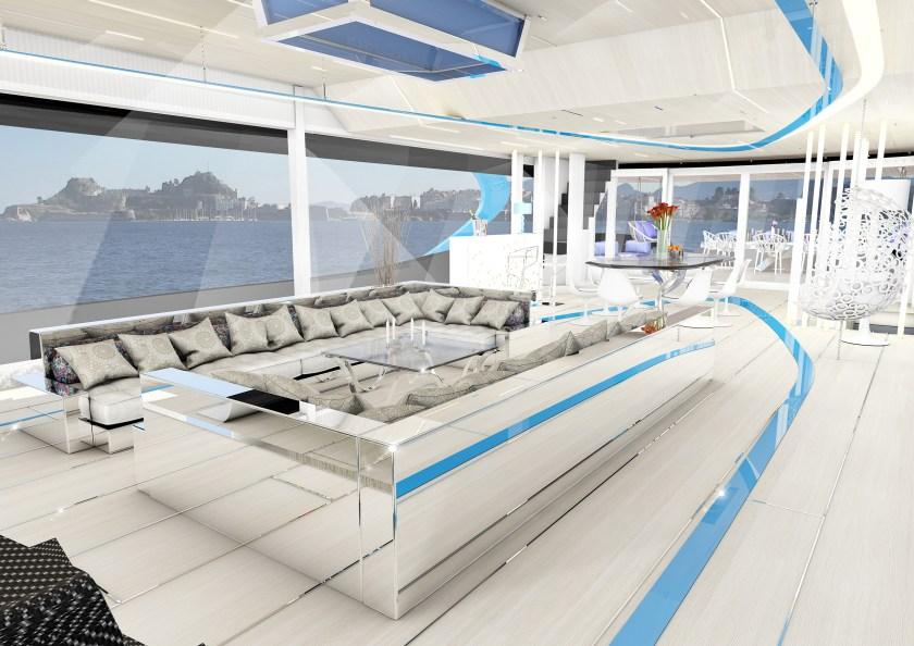 I-Tron's interior has a sophisticated, futuristic vibe (Rossinavi)