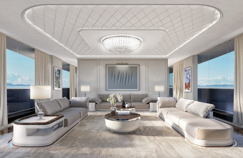 A look at Attitude's interior, inspired by an Italian villa (Rossinavi)