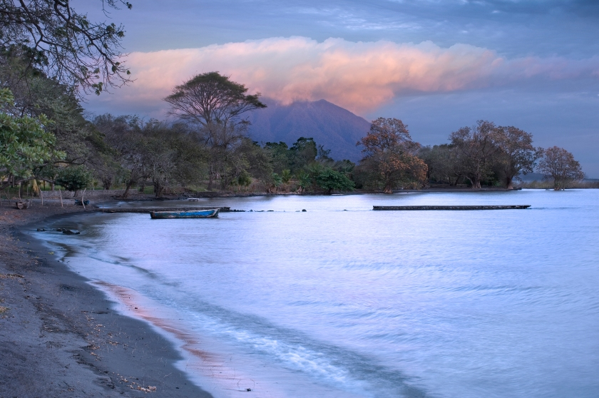 Maderas Volcano over Lake Nicaragua at Sunset (Getty Images)