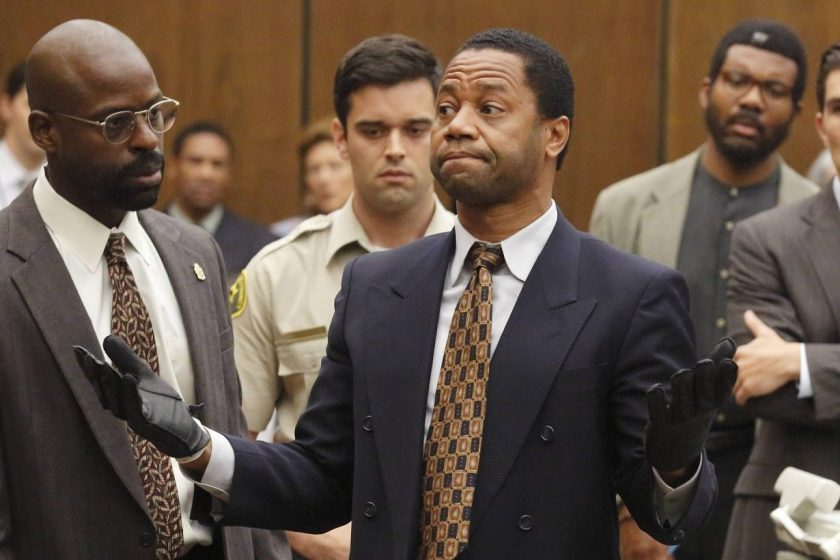 From left: Sterling K. Brown as Christopher Darden, Cuba Gooding, Jr. as O.J. Simpson 'The People v. O.J. Simpson: American Crime Story'. (Ray Mickshaw/FX)