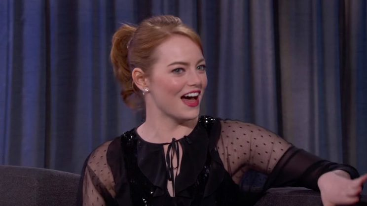 Emma Stone Talks Oscars Chances, Getting Enshrined at Chinese Theatre on 'Kimmel'