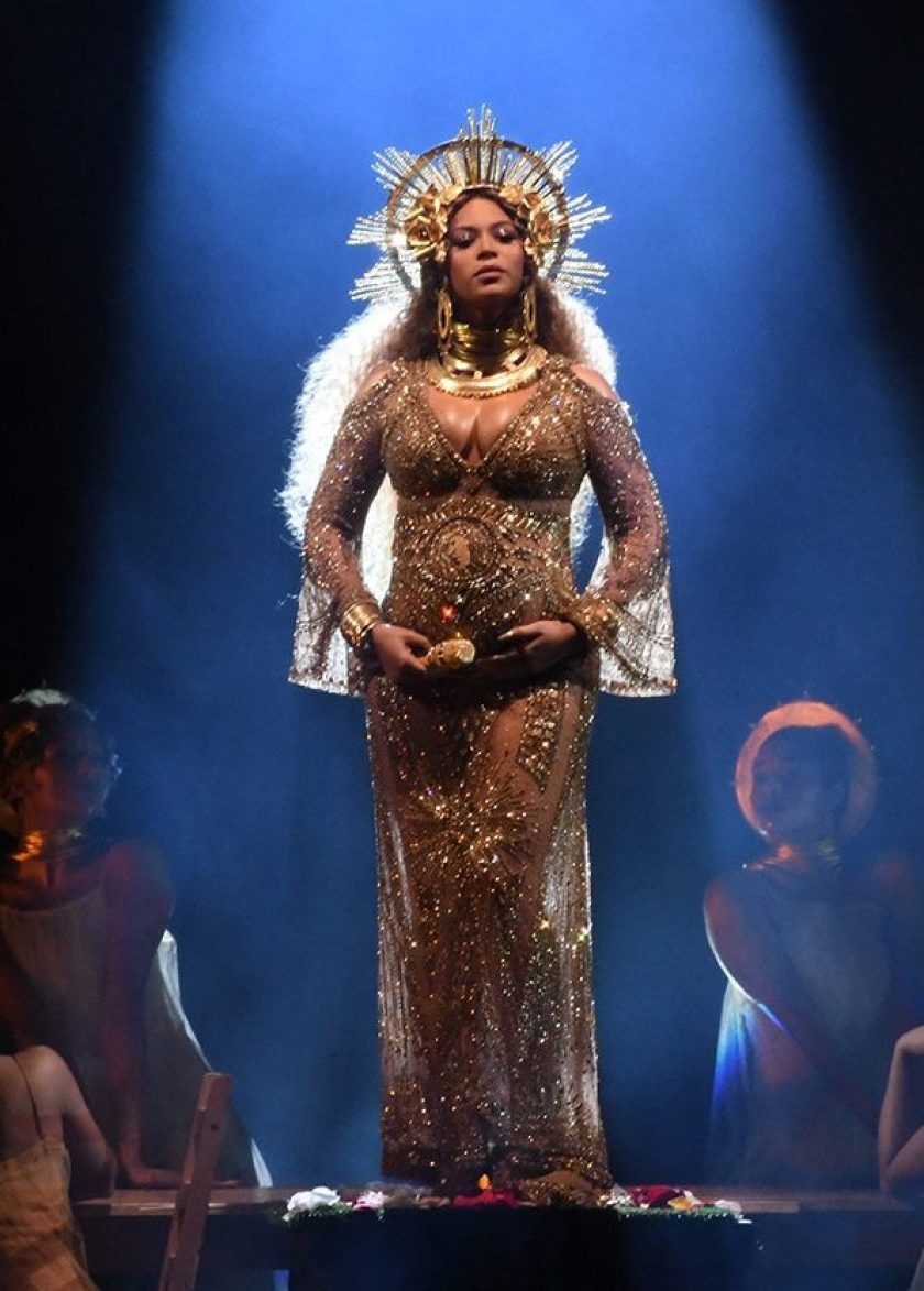 Recording artist Beyonce performs onstage during The 59th GRAMMY Awards at STAPLES Center on February 12, 2017 in Los Angeles, California. (Kevin Winter/Getty Images for NARAS)