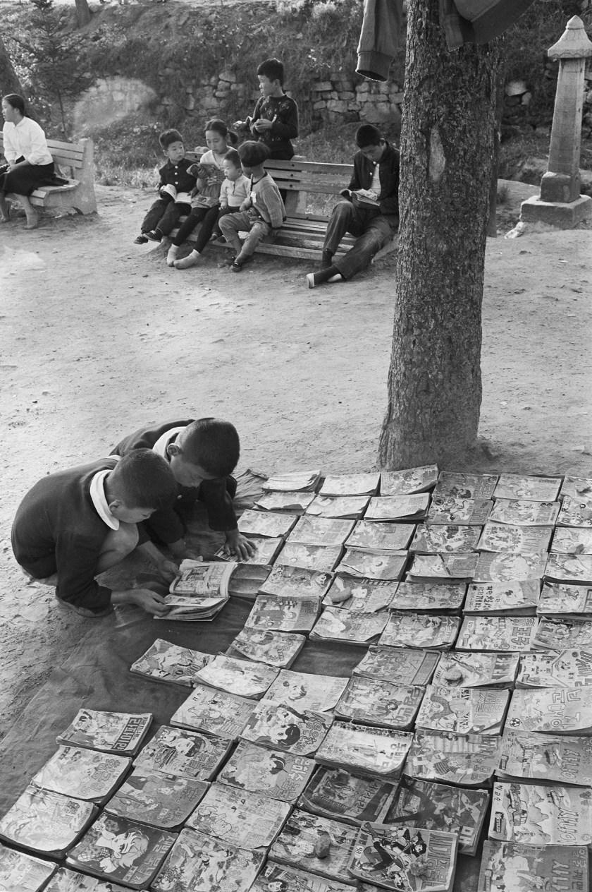Jangchungdan Park in Seoul, Korea during 1960. (Han Youngsoo Foundation)