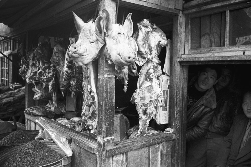 Butchers in Seoul, Korea during 1956-63. (Han Youngsoo Foundation)