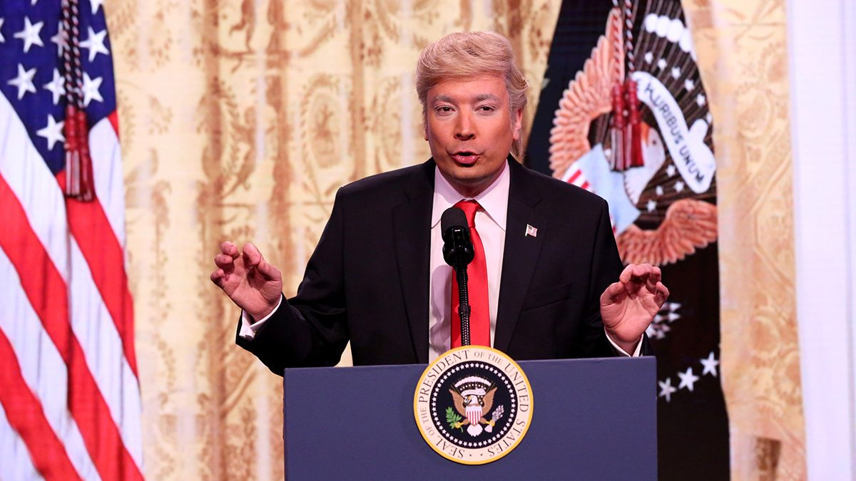 Jimmy Fallon Spoofing Donald Trump's Press Conference
