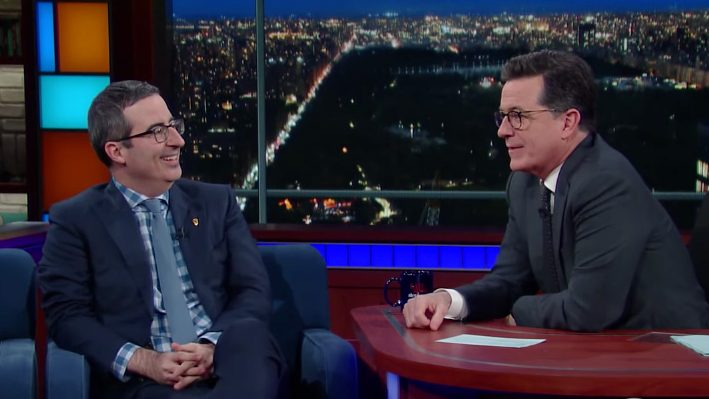 John Oliver Talks James Bond, the Possibility of Getting Deported on 'Colbert'