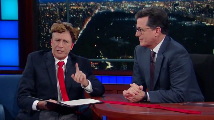 Jon Stewart Stops by 'Colbert' to Read the President's Executive Orders