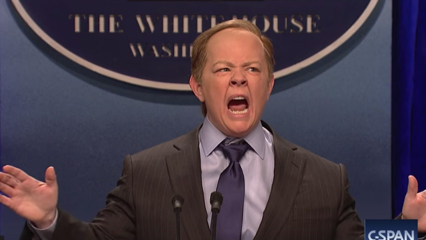 Melissa McCarthy as Sean Spicer on SNL Is Comedy Gold