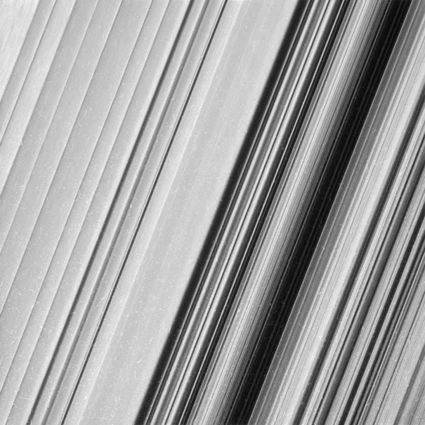 Close-Up Images of Saturn's Rings