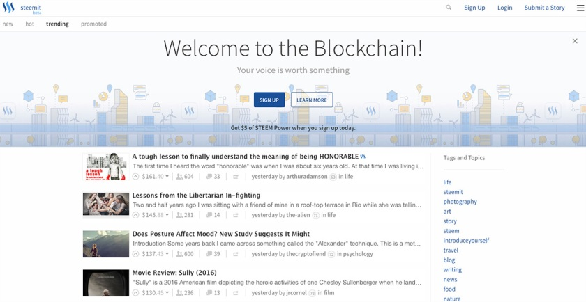 Steemit, the Social Media Platform That Pays You to Be Social