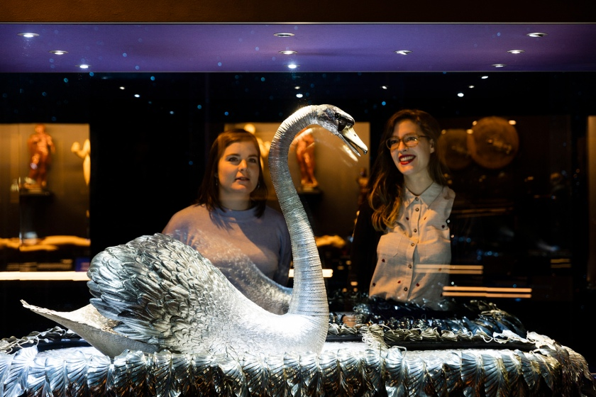 Visitors admire the Silver Swan (Plastiques Photography, courtesy of the Science Museum)