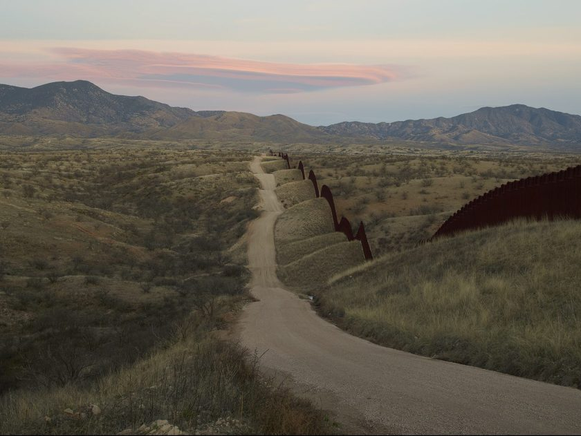 Wall, east of Nogales, Arizona in 2015. (Richard Misrach, Courtesy Fraenkel Gallery, Pace/MacGill Gallery, and Marc Selwyn Fine Art)
