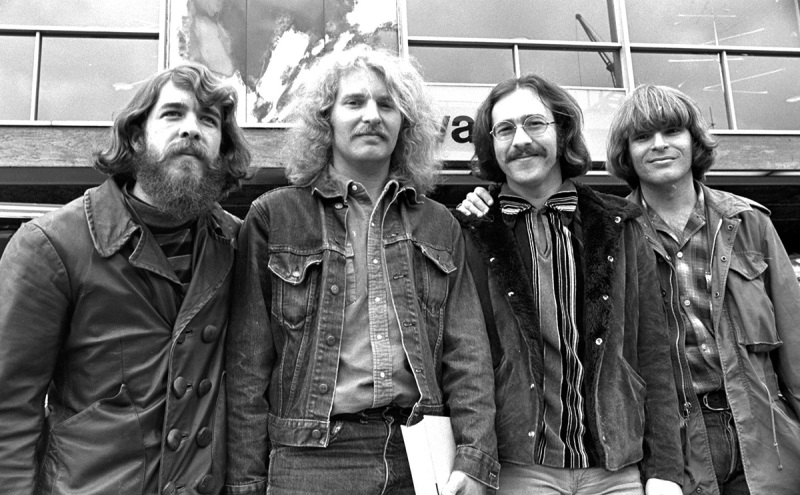 Creedence Clearwater Revival (left to right) Doug Clifford Tom Fogerty, Stu Cook and John Fogerty in London, England (Chris Walter/WireImage)