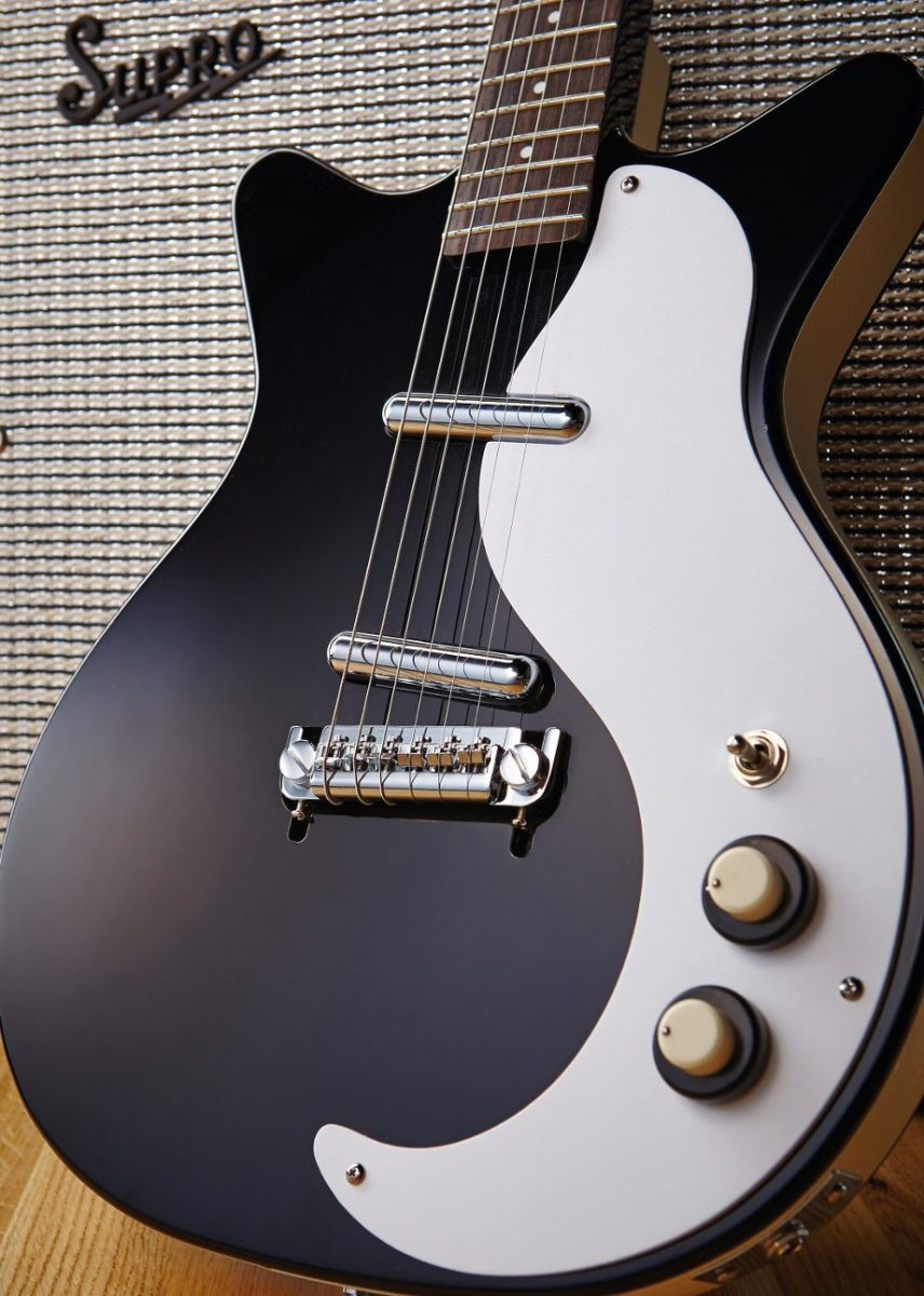 A Danelectro DC59M NOS electric guitar (Joseph Branston/Total Guitar Magazine via Getty Images)