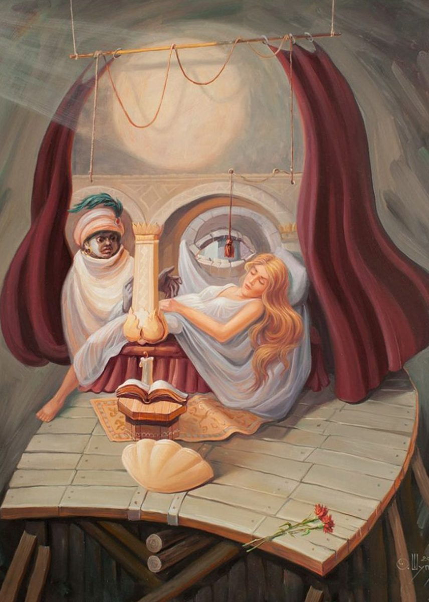 Russian Artist Oleg Shuplyak Hidden Figure Paintings Are