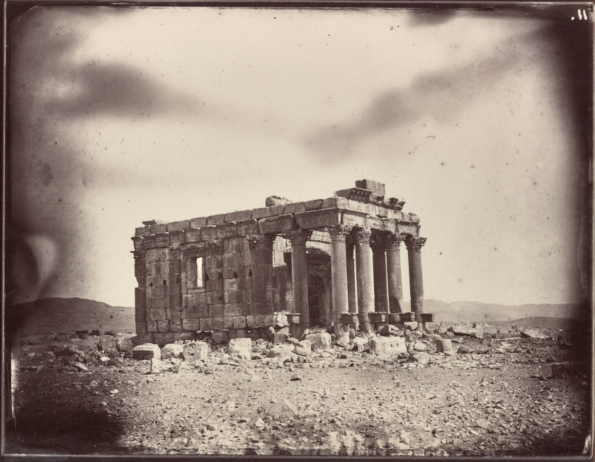 Temple of Baalshamin, , Albumen print by Louis Vignes in 1864. (The Getty Research Institute)