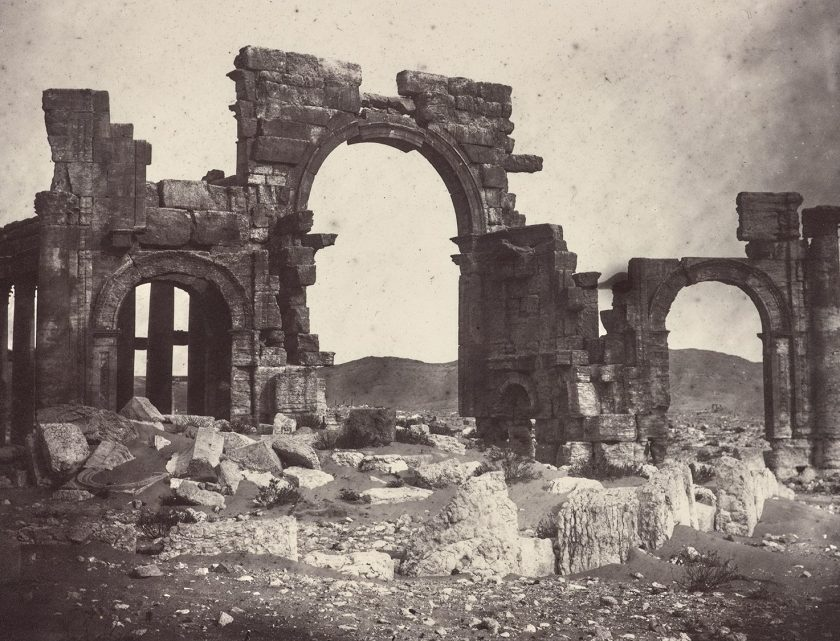 Monumental Arch, Albumen print by Louis Vignes in 1864. (The Getty Research Institute)